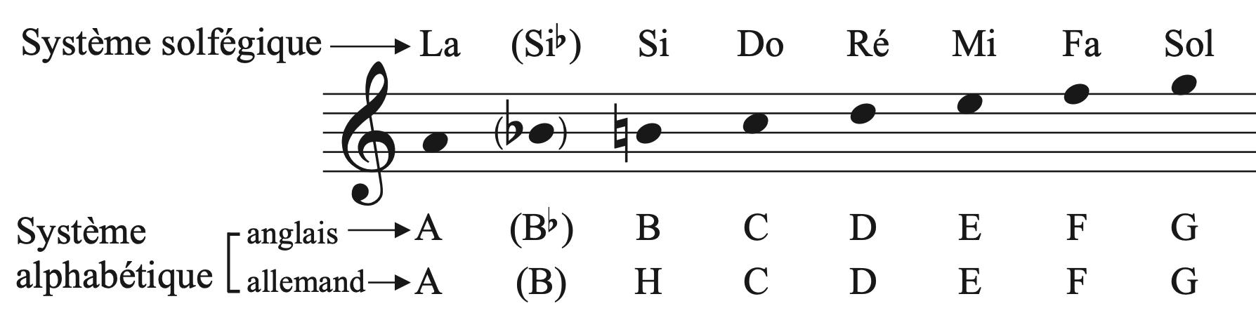 Les différents systèmes de notation musicale : solfégique et alphabétique